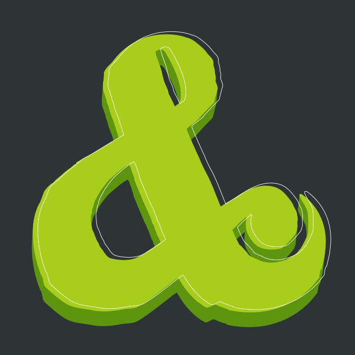 green-ampersand